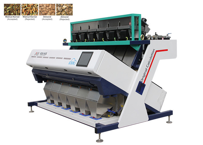 Fast Response Speed Nuts Color Sorter Strong Anti - Jamming Stability